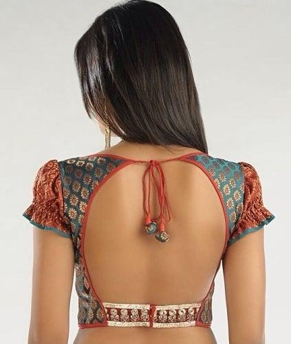 Brocade Blouse Back Neck Design