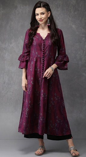 Front Open Kurti With Palazzo