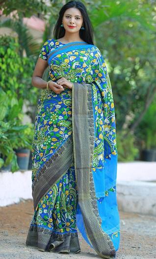 Kalamkari Blouse with Saree