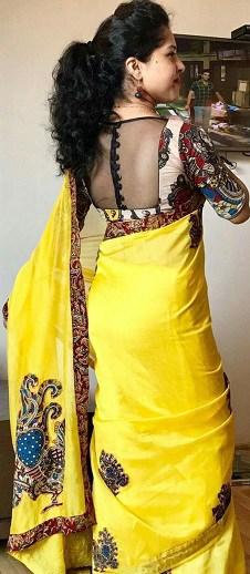 Kalamkari Silk Blouse
