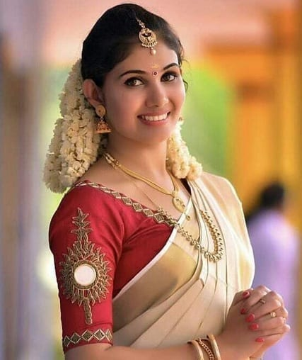 Kerala Wedding Saree Blouse Design