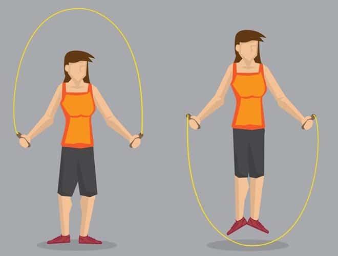 حبل القفز لزيادة الطول