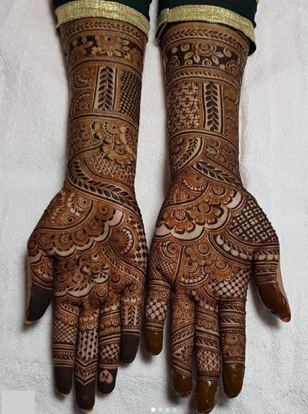 stylish full hand mehndi design 2021