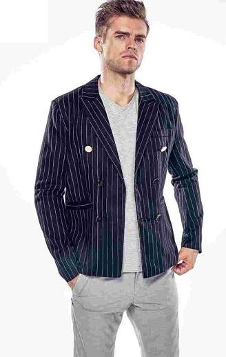 Striped Blazer with Jeans