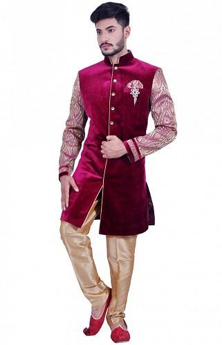 Velvet Indo Western Sherwani