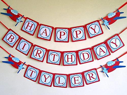 Aeroplane Birthday Banner