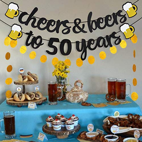 Beer Theme Banner For 50th Birthday