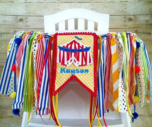 Circus Theme Cloth Banner