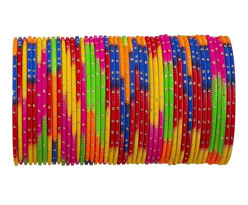 Multi Color Metal Bangles