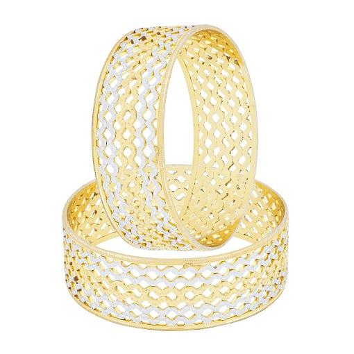 Rhodium Gold Bangles