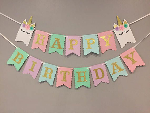 Unicorn Birthday Banner