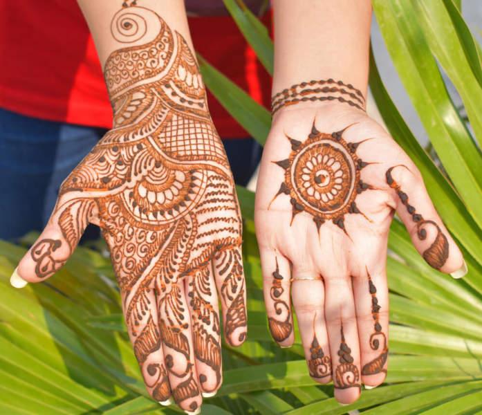 Floral Mehndi Design for Hands