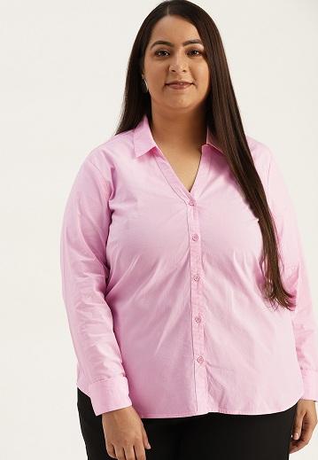 Plus Size Formal Regular Fit Shirt