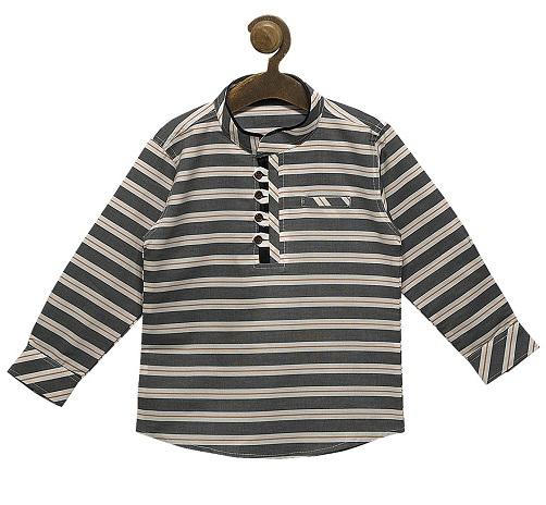 Striped Kurta Shirt For Kid Boys