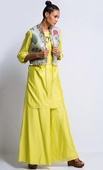 Designer Kurti With Short Jacket By Payal Singhal
