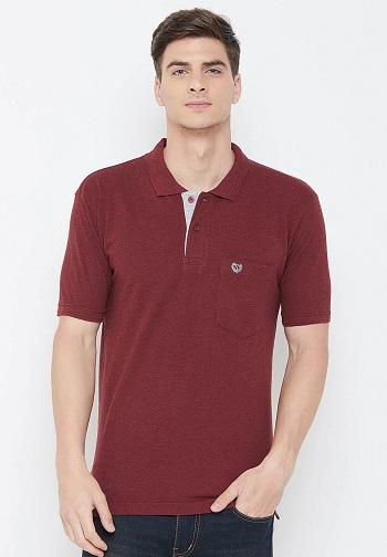 Duke Collar T Shirt With Pocket