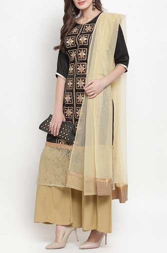 Embroidered Fancy Kurti With Plazo