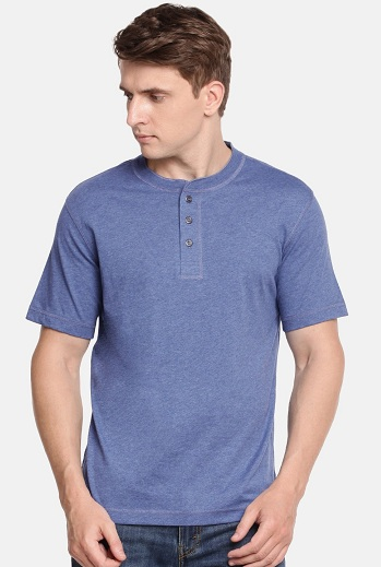 Jockey Henley Collar T Shirt