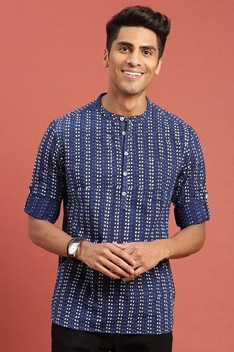 Mandarin Collar Kurta Shirt