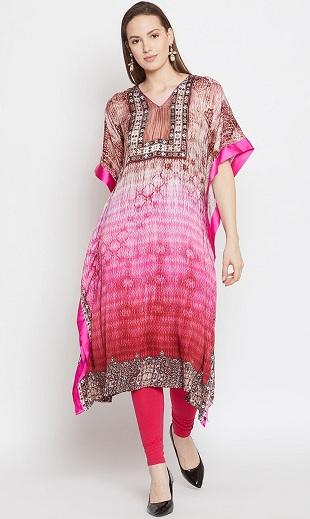 Printed Kaftan Style Kurti Design