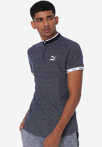 Puma T Shirt With Chinese Collar