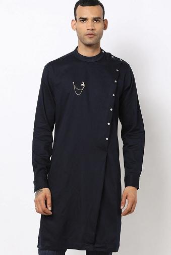 Sherwani Kurta With Side Buttons