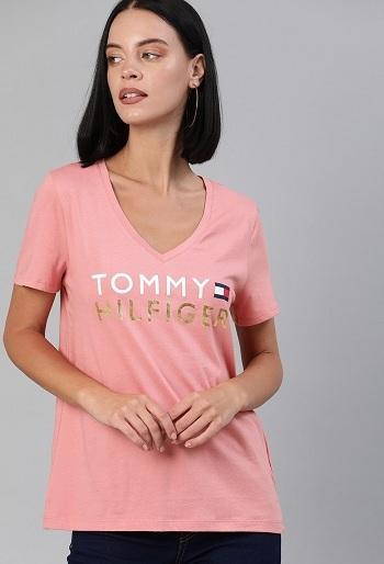 Tommy Hilfiger V Collar T Shirt