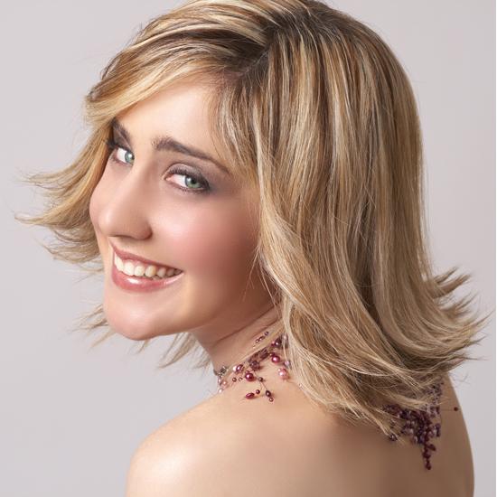 Blonde Hair with Wispy Fringes