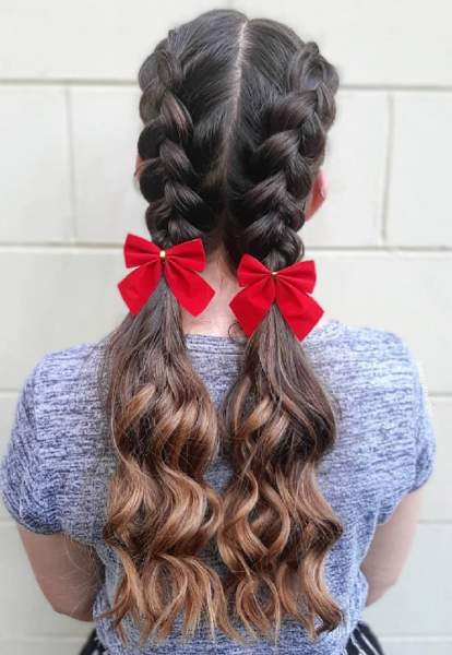 Curly Pigtail Braids