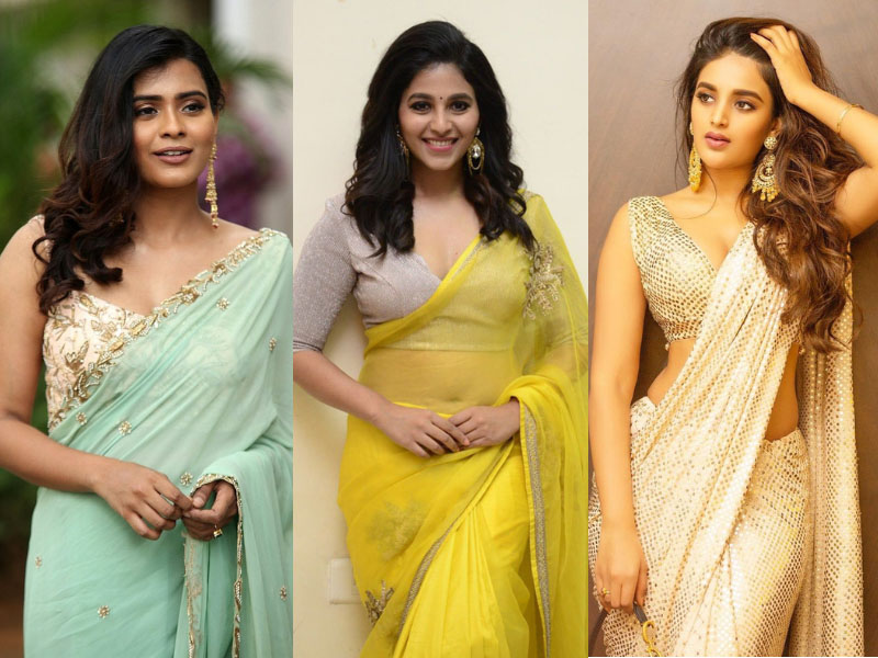50 Hot Pictures Of South Indian Heroines In Saree 2021